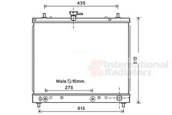 Radiateur, refroidissement du moteur - VAN WEZEL - 11002069