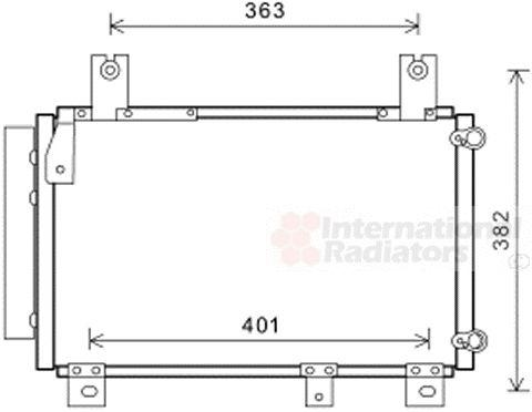 Condenseur, climatisation - VAN WEZEL - 11005067