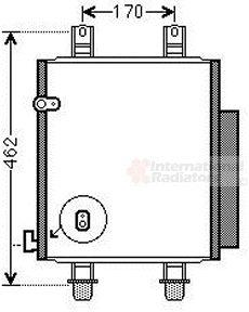 Condenseur, climatisation - VAN WEZEL - 11005072
