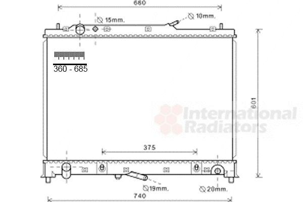 Radiateur, refroidissement du moteur - VAN WEZEL - 13002245