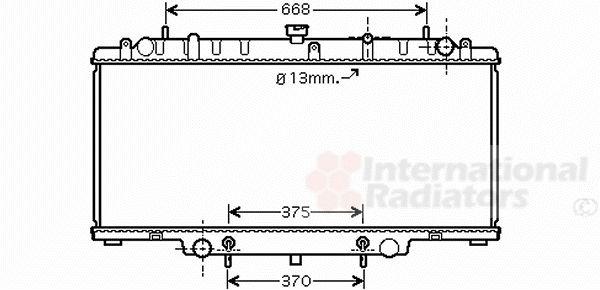 Radiateur, refroidissement du moteur - VAN WEZEL - 13002264