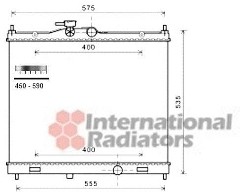 Radiateur, refroidissement du moteur - VAN WEZEL - 13002347