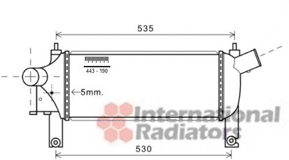 Intercooler, échangeur - VWA - 88VWA13004339
