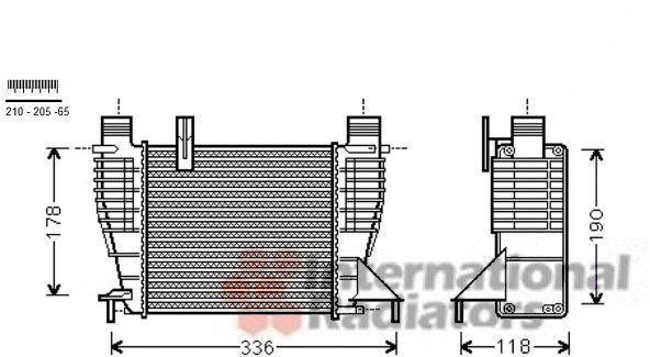 Intercooler, échangeur - VAN WEZEL - 13004340