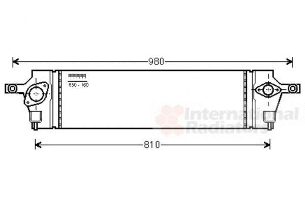 Intercooler, échangeur - VAN WEZEL - 13004350