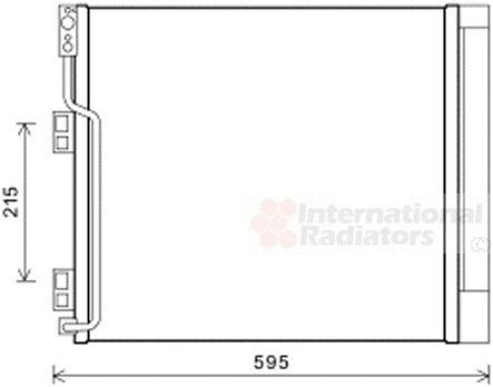 Condenseur, climatisation - VAN WEZEL - 13005355