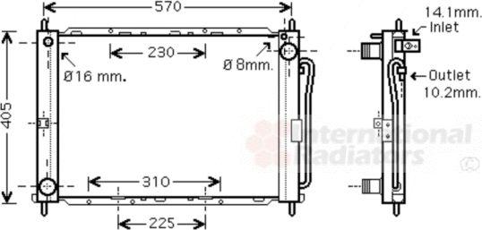 Module de refroidissement - VAN WEZEL - 1300M369