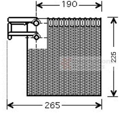 Evaporateur climatisation - VAN WEZEL - 1300V257
