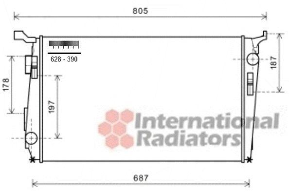 Radiateur, refroidissement du moteur - VAN WEZEL - 15002005