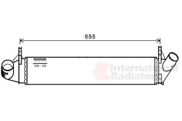 Intercooler, échangeur - VAN WEZEL - 15004006