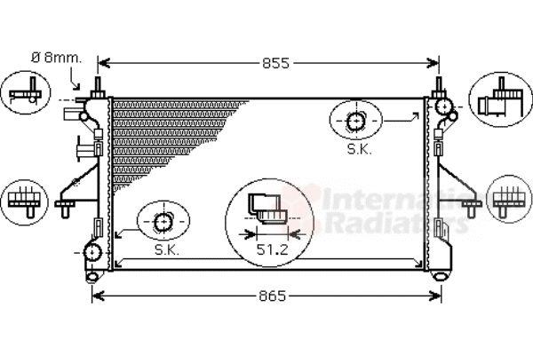 Radiateur, refroidissement du moteur - VAN WEZEL - 17002399