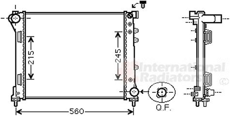 Radiateur, refroidissement du moteur - VAN WEZEL - 17002403