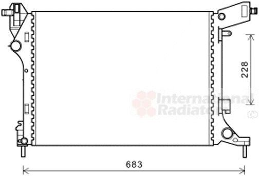 Radiateur, refroidissement du moteur - VAN WEZEL - 17002413