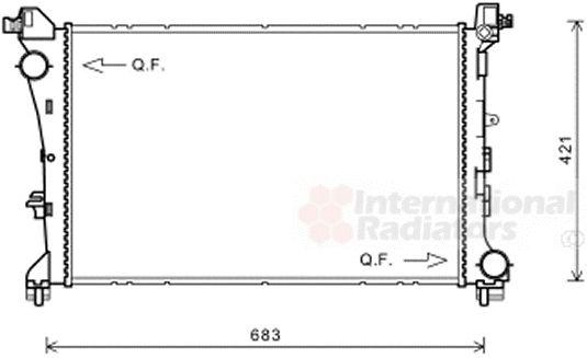 Radiateur, refroidissement du moteur - VAN WEZEL - 17002414