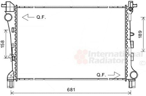 Radiateur, refroidissement du moteur - VAN WEZEL - 17002420