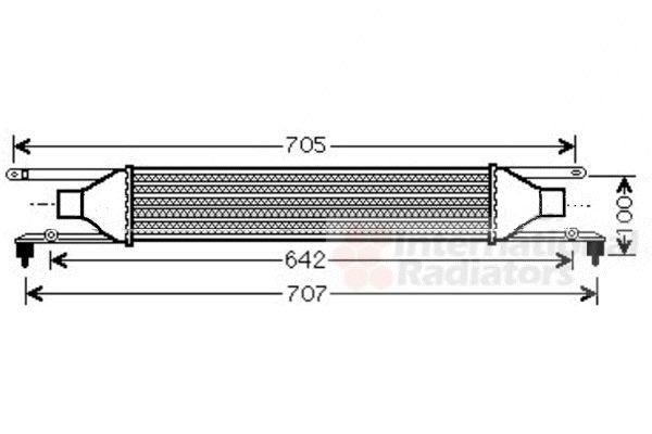 Intercooler, échangeur - VAN WEZEL - 17004320
