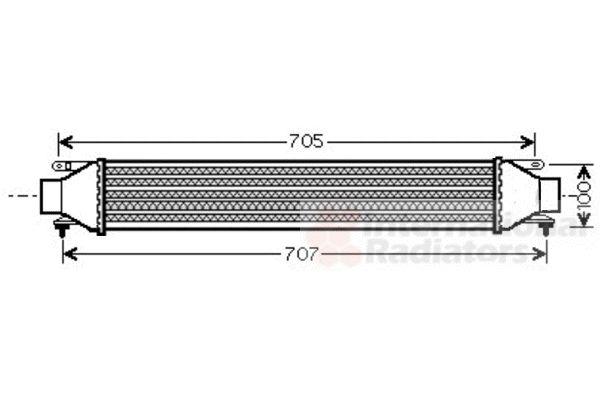Intercooler, échangeur - VAN WEZEL - 17004321