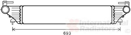 Intercooler, échangeur - VAN WEZEL - 17004415