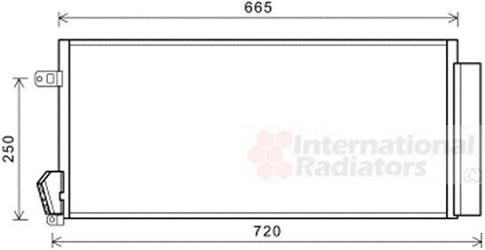 Condenseur, climatisation - VAN WEZEL - 17005396