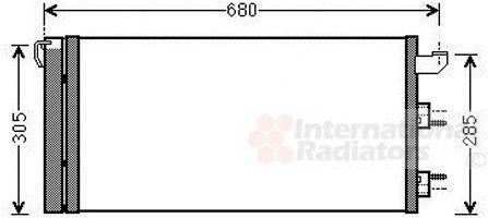 Condenseur, climatisation - VAN WEZEL - 17005406