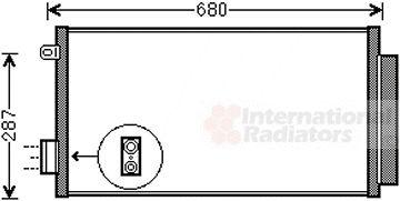 Condenseur, climatisation - VAN WEZEL - 17005411