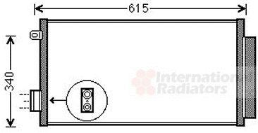 Condenseur, climatisation - VAN WEZEL - 17005412