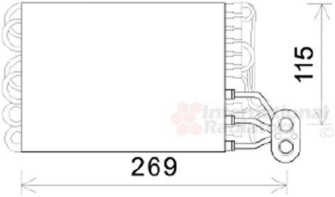 Evaporateur climatisation - VAN WEZEL - 1700V422