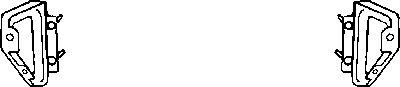 Support, pare-chocs - VAN WEZEL - 1708559