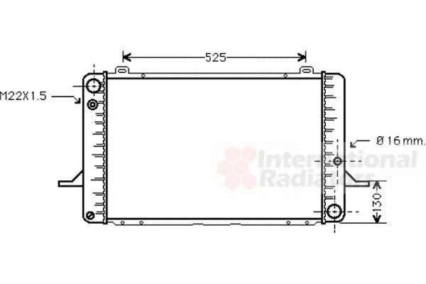 Radiateur, refroidissement du moteur - VAN WEZEL - 18002050