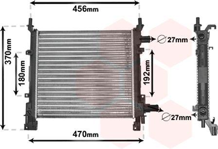 Radiateur, refroidissement du moteur - VAN WEZEL - 18002260