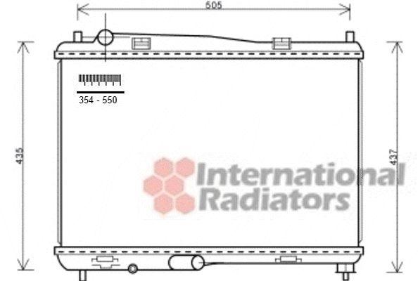Radiateur, refroidissement du moteur - VAN WEZEL - 18002440