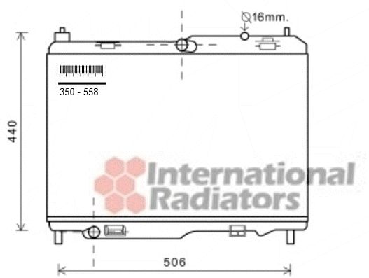 Radiateur, refroidissement du moteur - VAN WEZEL - 18002442