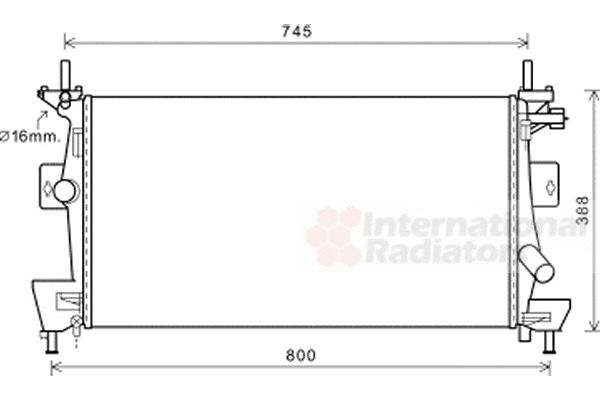 Radiateur, refroidissement du moteur - VAN WEZEL - 18002475