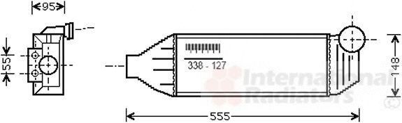 Intercooler, échangeur - VAN WEZEL - 18004309