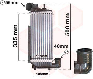 Intercooler, échangeur - VAN WEZEL - 18004471