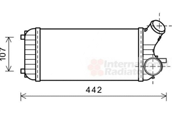 Intercooler, échangeur - VAN WEZEL - 18004472