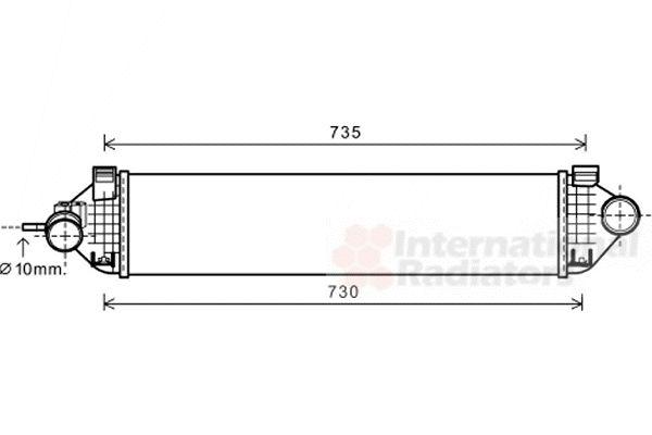 Intercooler, échangeur - VAN WEZEL - 18004473