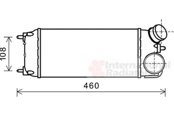 Intercooler, échangeur - VAN WEZEL - 18004476