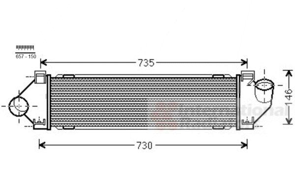 Intercooler, échangeur - VAN WEZEL - 18004480