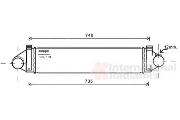 Intercooler, échangeur - VAN WEZEL - 18004481