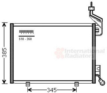 Condenseur, climatisation - VAN WEZEL - 18005444