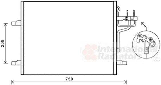 Condenseur, climatisation - VAN WEZEL - 18005483