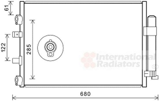 Condenseur, climatisation - VAN WEZEL - 18005484