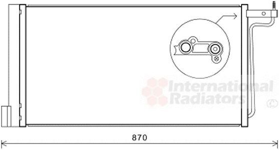 Condenseur, climatisation - VAN WEZEL - 18005485