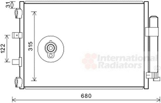Condenseur, climatisation - VAN WEZEL - 18005487