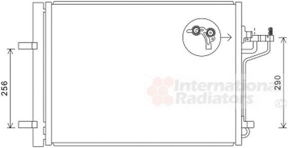 Condenseur, climatisation - VAN WEZEL - 18005488