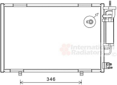 Condenseur, climatisation - VAN WEZEL - 18005490