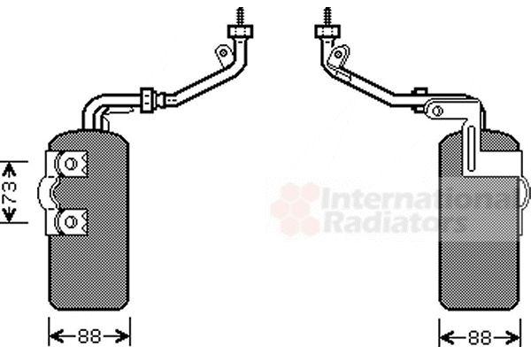 Filtre déshydratant, climatisation - VAN WEZEL - 1800D466