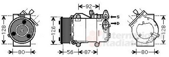 Compresseur, climatisation - VAN WEZEL - 1800K393