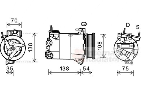 Compresseur, climatisation - VWA - 88VWA1800K478